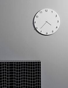 contemporary clocks / analog / wall-mounted / metal
