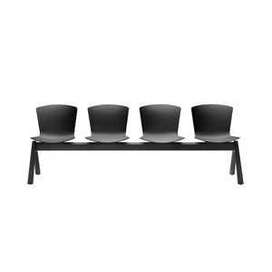 aluminum beam chairs / polypropylene / 4-seater / for reception areas