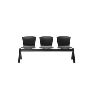 aluminum beam chairs / polypropylene / 3-seater / for reception areas