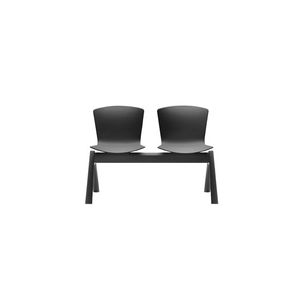aluminum beam chairs / polypropylene / 2-person / for reception areas