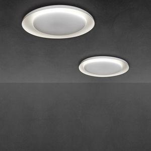 contemporary ceiling light / round / polycarbonate / fluorescent