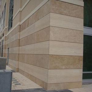 panel cladding / sandstone / polished / gray