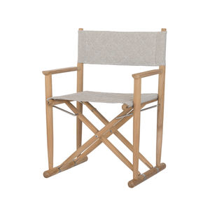 contemporary garden chair / with armrests / folding / stainless steel