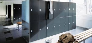 steel locker / for public buildings / for sports facilities