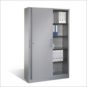low filing cabinet / tall / steel / melamine