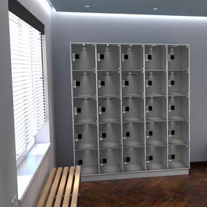 polycarbonate left-luggage locker
