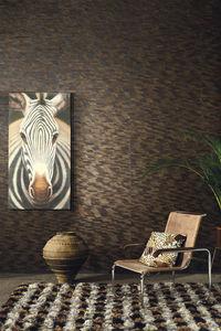 contemporary wallpaper / natural fiber / nature pattern / black
