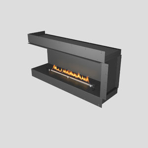 bioethanol fireplace / contemporary / closed hearth / corner