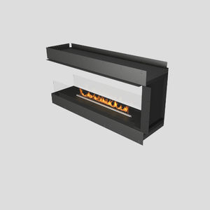 bioethanol fireplace / contemporary / open / 3-sided