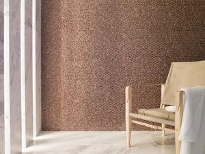 indoor mosaic tile / wall / aluminum / hexagonal