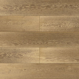 engineered parquet floor / glued / oak / brushed