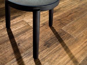 engineered parquet floor / glued / oak / aged