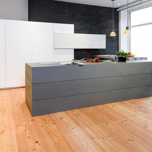 engineered parquet floor / glued / floating / Douglas fir