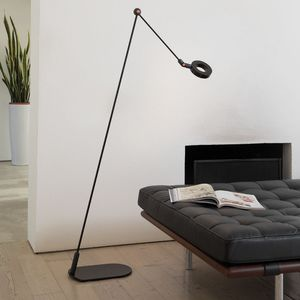 floor-standing lamp / contemporary / painted aluminum / methacrylate
