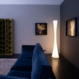contemporary light column / polyethylene / LED / indoor