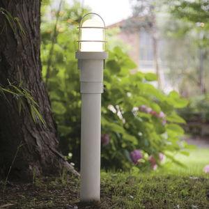 garden bollard light / contemporary / steel / glass