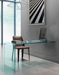 glass desk / contemporary / wall-mounted / custom