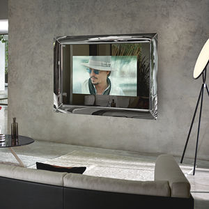 wall-mounted TV mirror