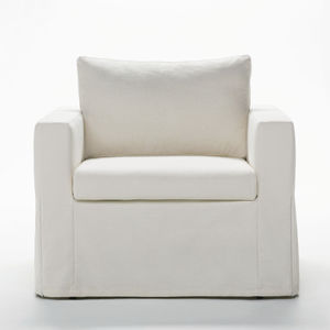 bed armchair / contemporary / fabric / leather
