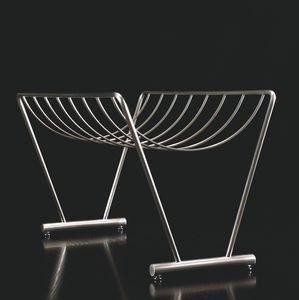 contemporary magazine rack / tertiary / steel