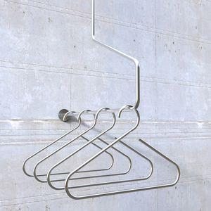 wall-mounted coat hanger rack
