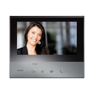 hands-free video door intercom / with color screen / touch screen / stainless steel