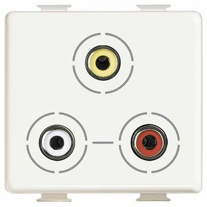 electric socket / audio / triple / wall-mounted