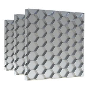 furniture composite panel / aluminum / wall-mounted / satin