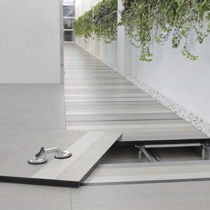 porcelain stoneware raised access floor / high-resistance / indoor