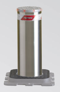 access control bollard / steel / stainless steel / retractable