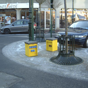electrical distribution bollard / steel / stainless steel / retractable