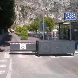 access control barrier / fixed / metal / for public spaces