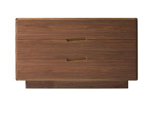 contemporary chest of drawers / walnut / ash