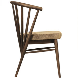 traditional chair / upholstered / with armrests / ash