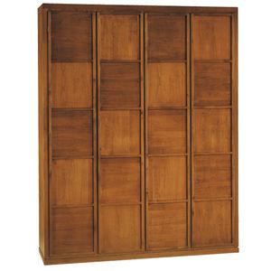 modular wardrobe / contemporary / cherrywood / with hinged door
