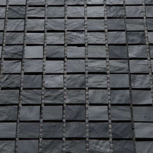 indoor mosaic tile / floor / slate / textured