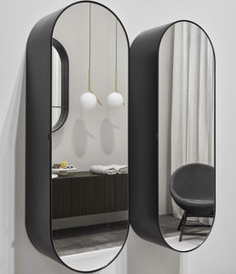 wall-mounted mirror / contemporary / oval / for beauty salons