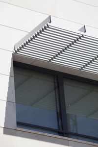 aluminum solar shading / for facade / horizontal / rigid