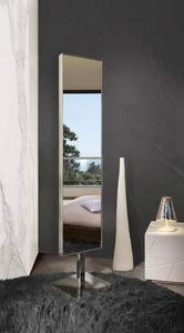 free-standing mirror / swivel / contemporary / rectangular