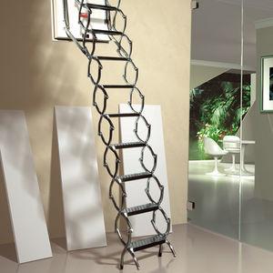 accordion protection ladder / retractable / aluminum