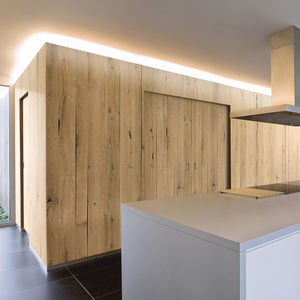 construction solid wood panel / for interior