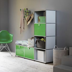 contemporary entryway cabinet / MDF / with storage compartment / with drawer