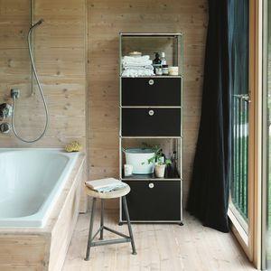 contemporary shelf / lacquered MDF / bathroom