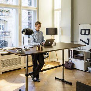 contemporary work table / MDF / rectangular