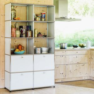 contemporary shelf / lacquered MDF / metal / for kitchens