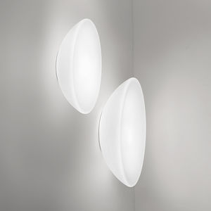 contemporary wall light / glass / incandescent / round