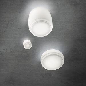 contemporary ceiling light / round / blown glass / incandescent