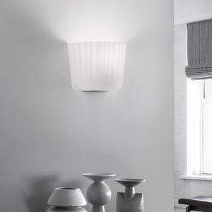 contemporary wall light / chromed metal / blown glass / incandescent