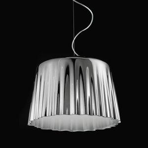 pendant lamp / contemporary / blown glass / fabric