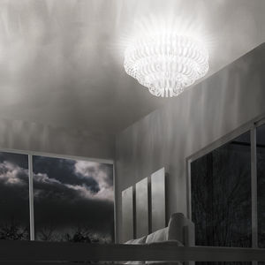 contemporary ceiling light / glass / incandescent / home